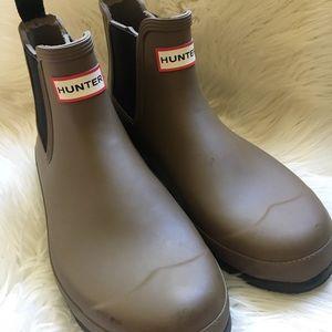 Men's hunter Chelsea boots brown size 10